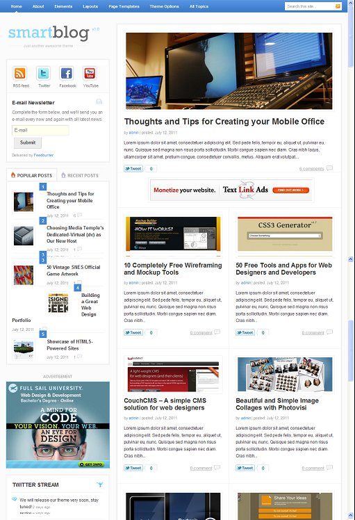 Theme Junkie Smartblog WordPress Smart Bloggers Theme