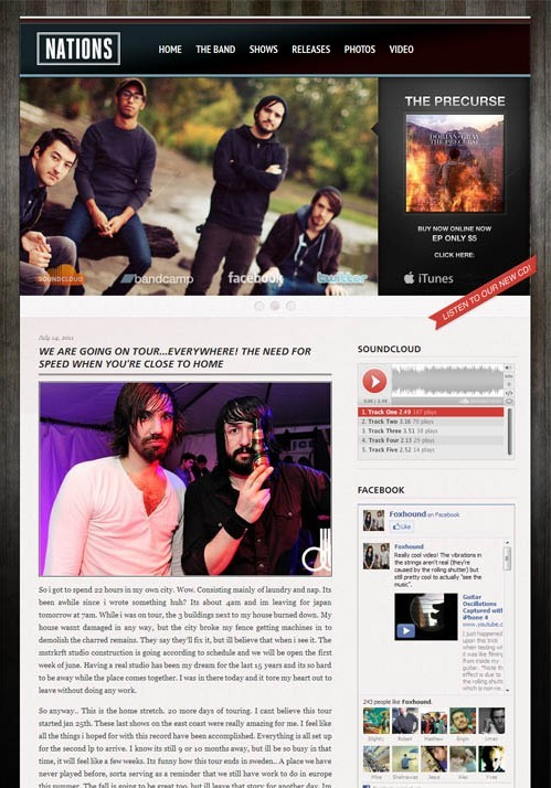 Foxhound The Grammy WordPress Band Theme