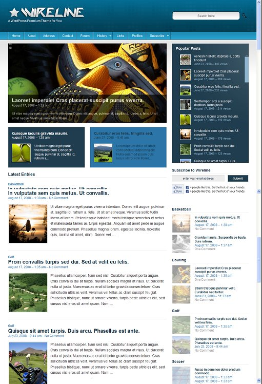 Colorlabs Wireline Magazine WordPress Theme