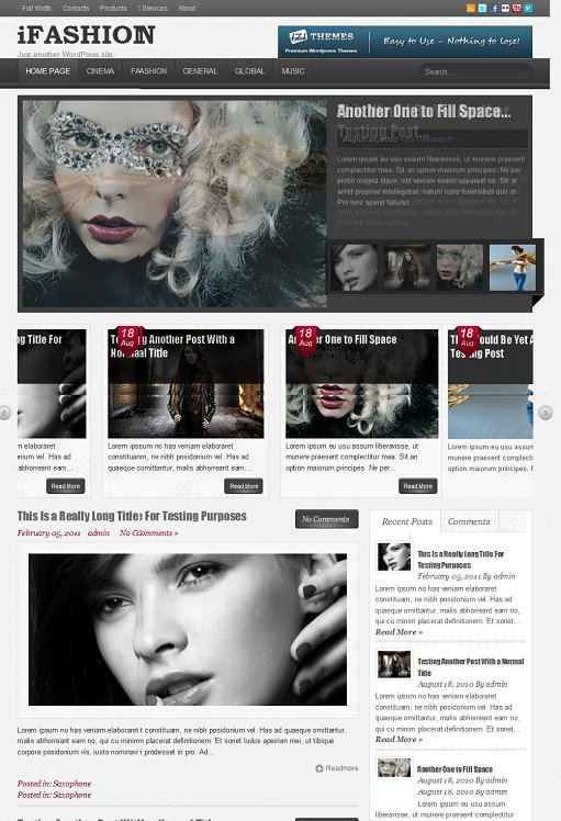 IziThemes iFashion WordPress Theme