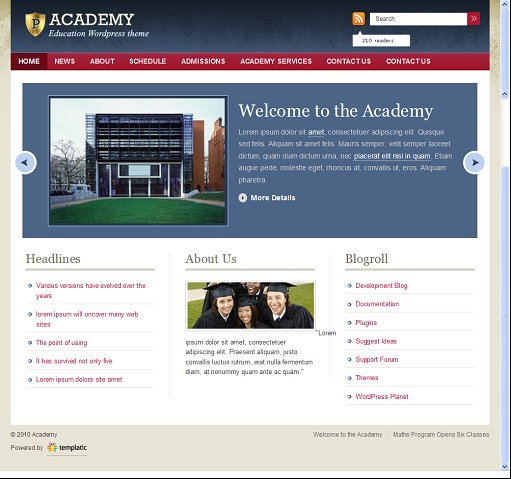 Templatic Academy Best WordPress Education Theme
