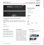 Theme Spectrum Art Blog WordPress Theme
