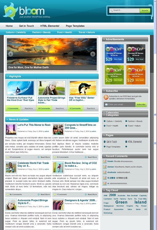 WPNow Bloom WordPress Theme