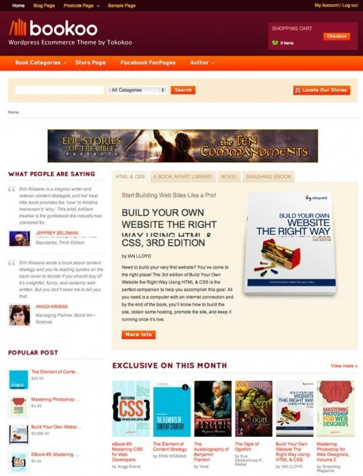 Tokokoo Bookoo WordPress Theme