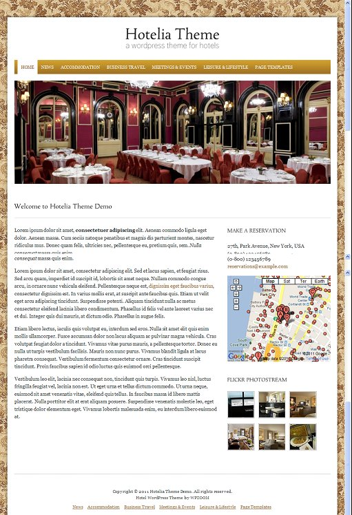 WPZoom Hotelia WordPress Hotel Theme For Hotel Organization