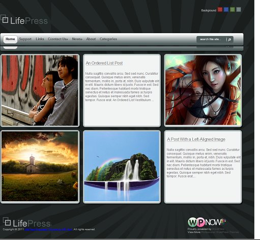 WPNow LifePress WordPress Portfolio Theme