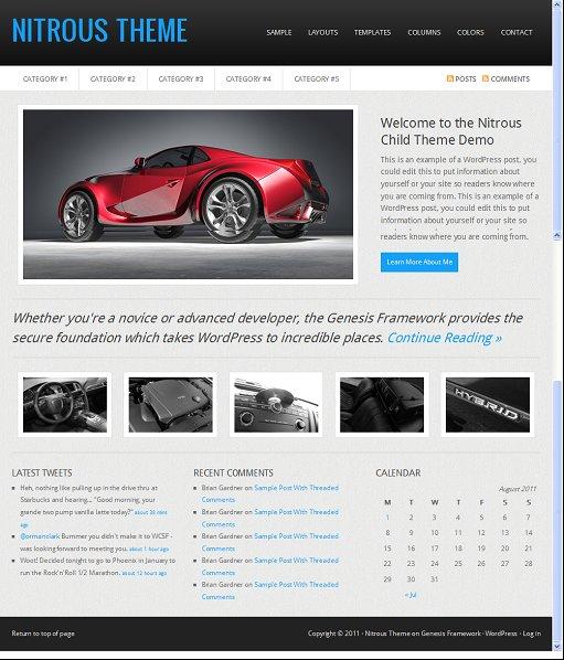 StudioPress Nitrous WordPress Business Company Theme