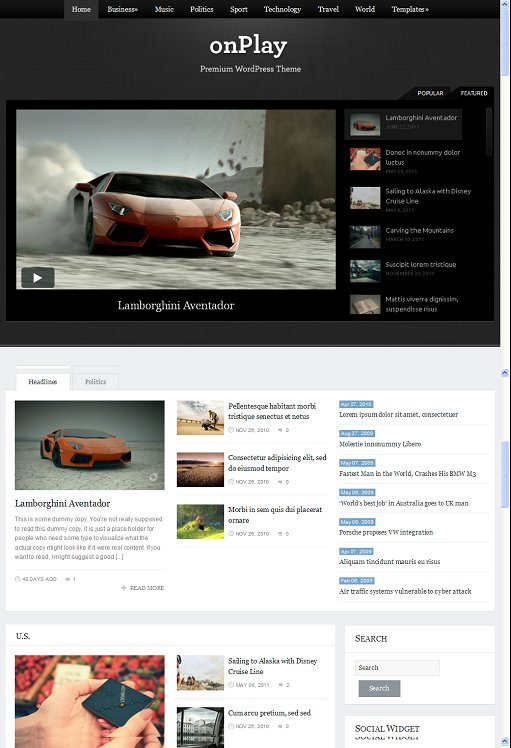 WPZOOM OnPlay WordPress Theme