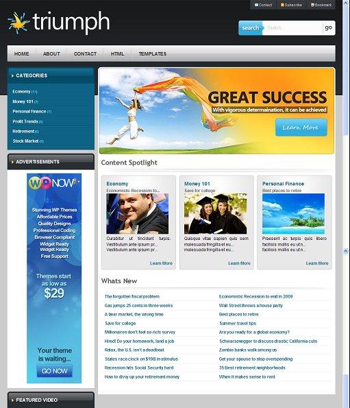 WPNow Triumph WordPress Business Theme