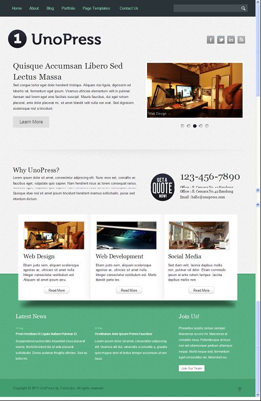 Colorlabs UnoPress WordPress Theme