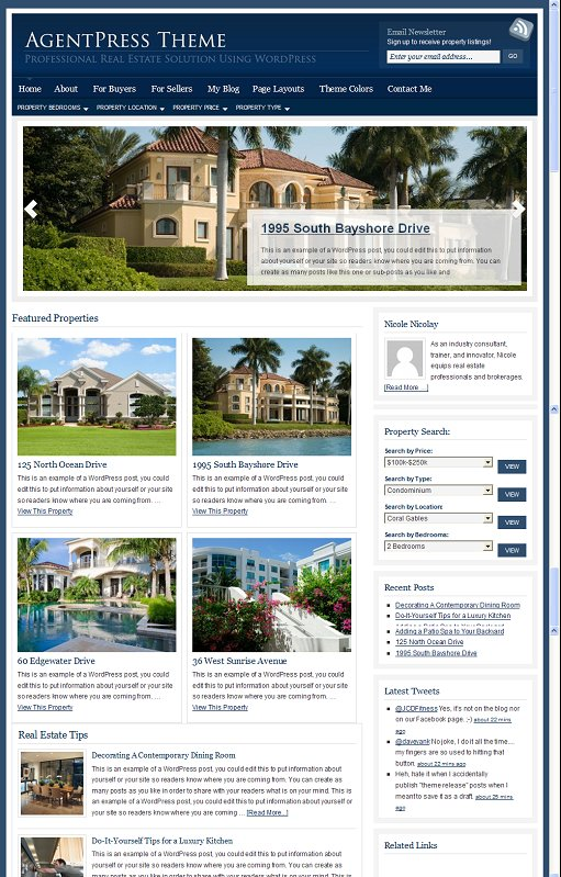 StudioPress AgentPress 2.0 Child Theme For Real Estate Agents