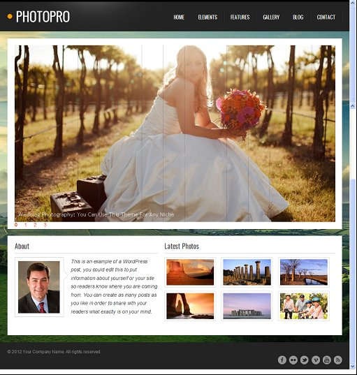 Best Clover PhotoPro Photography WordPress Theme