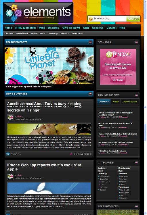 WPNow Elements WordPress Theme