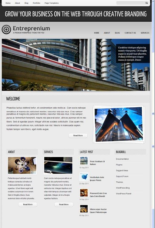 ColorLabs Entreprenium WordPress Business Premium Theme
