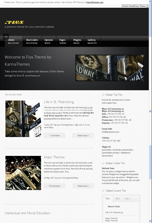 Review KarmaThemes Flyx WordPress Business Theme Download