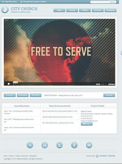 Mint Themes Malachi Church WordPress Theme