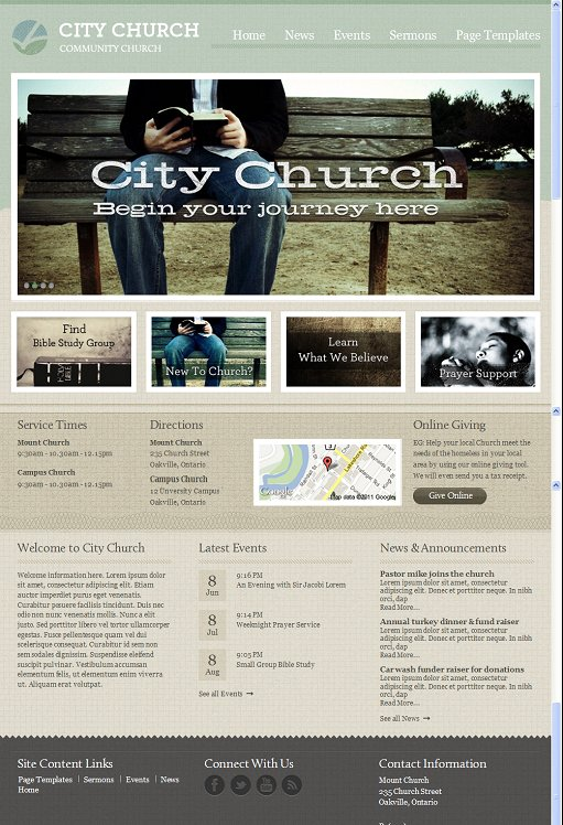 Mint Themes Micah WordPress Theme For Churches