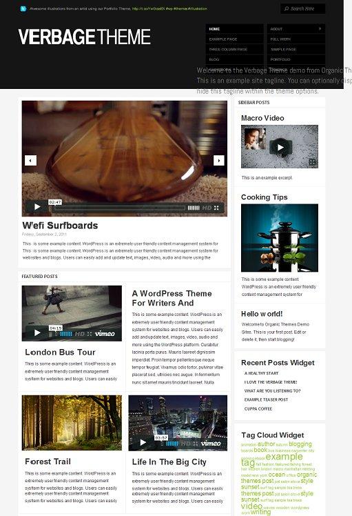 Organic Themes Verbage WordPress Theme v2