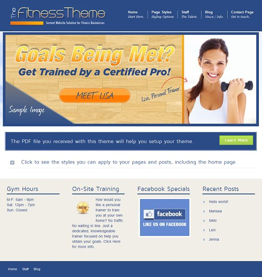 Aloha Themes The Fitness WordPress Theme