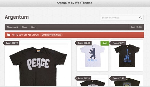 WooThemes Argentum WooCommerce Theme For WordPress Online Shop