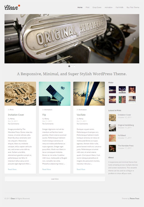 ThemeTrust Clean Responsive WordPress Portfolio Theme