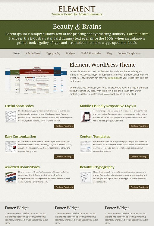 SimpleThemes Element WordPress Theme