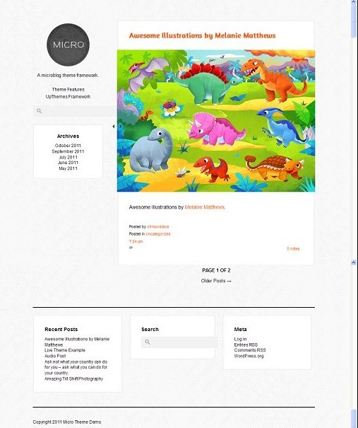 UPThemes Micro Responsive Microblogging Theme For WordPress