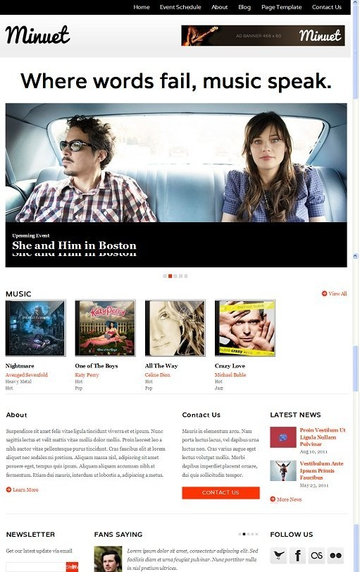ColorLabs Minuet Responsive Music WordPress Theme