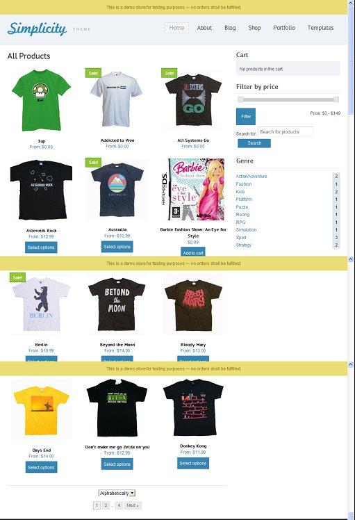 Simplicity Commerce WooCommerce WordPress Child Theme