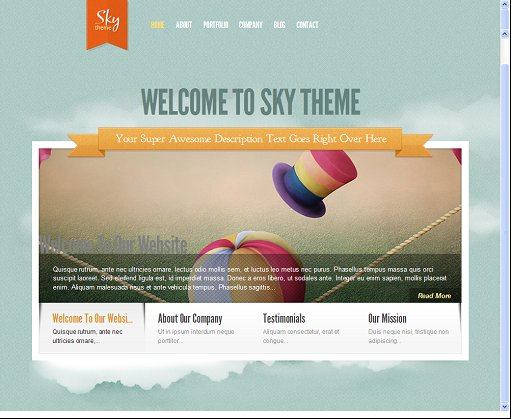 Elegant Themes Sky Ajax Powered WordPress Theme For Business Portfolio