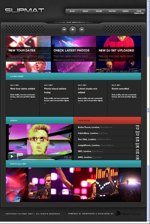 Mint Themes Slipmat WordPress Music Theme For DJs