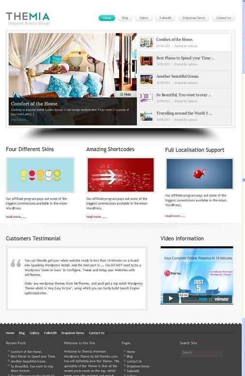 InkThemes Themia WordPress Theme