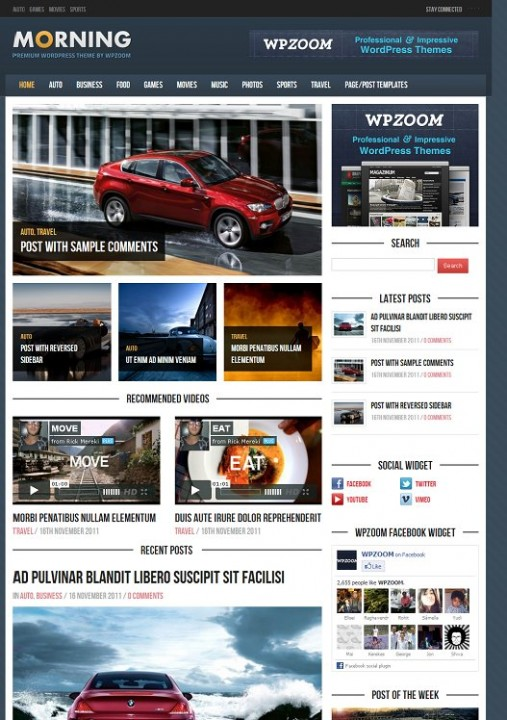 WPZOOM Morning Bold WordPress Magazine Theme