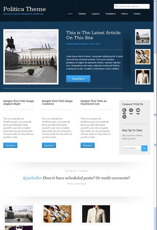 StudioPress Political Blog WordPress Theme