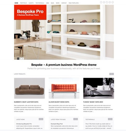 Bespoke Pro – A Clean Business WordPress Theme From FrogsThemes