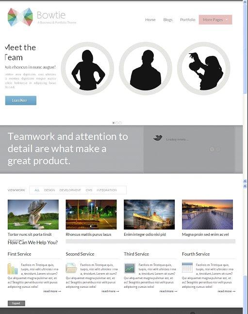 ThemeSnap Bowtie Premium Drupal 7 Portfolio Theme