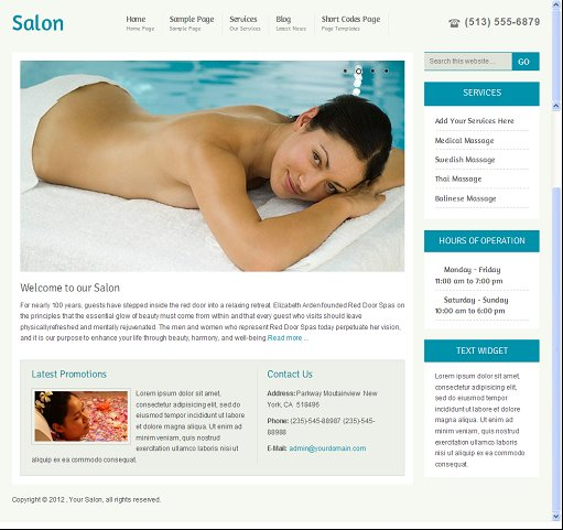 Clover Themes Salon WordPress CMS theme