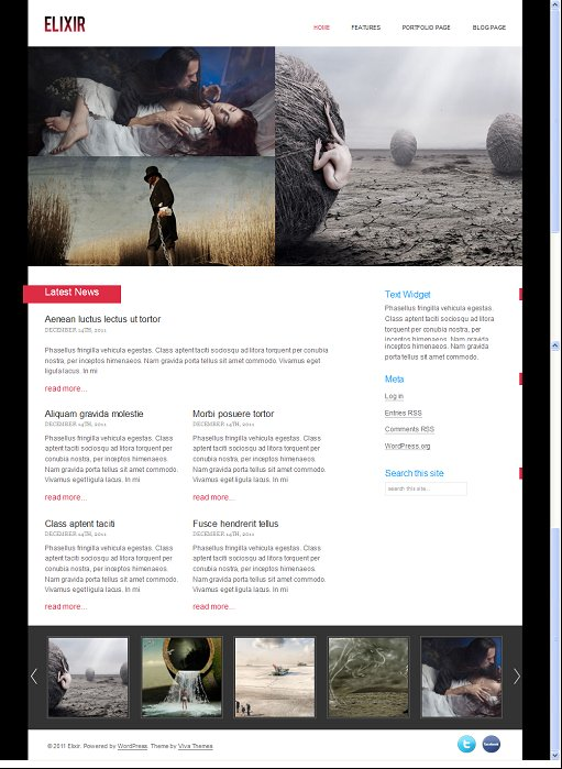 Elixir Viva Themes Professional WordPress Portfolio Theme