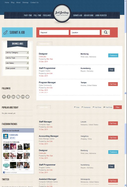 ColorLabs JobJockey Job Boards WordPress Theme