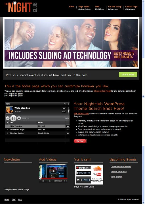 Aloha Themes THE NIGHTCLUB THEME For WordPress