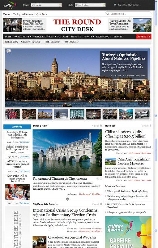 Gabfire City Desk WordPress Theme Review And Download