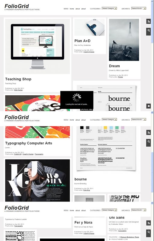 FolioGrid Pro A premium WordPress Portfolio Theme