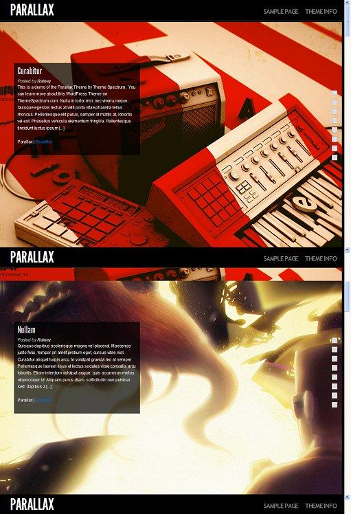 Theme Spectrum Parallax WordPress Theme