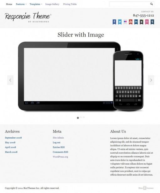 BizzThemes Responsive Corporate WordPress Theme