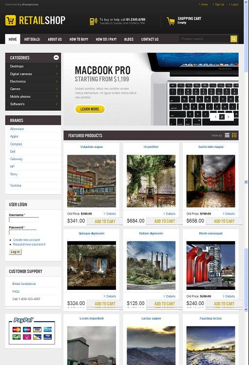 ThemeSnap Retail Shop Drupal Commerce Theme