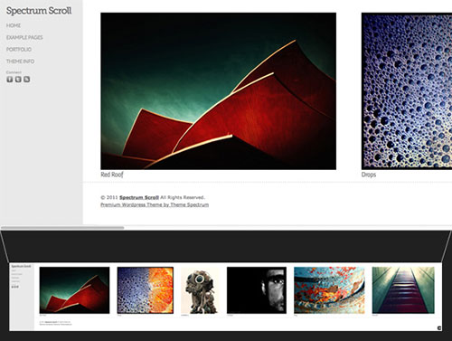 Theme Spectrum Scroll WordPress Portfolio Theme