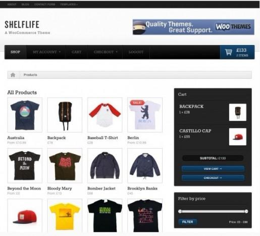 WooTheme Shelflife WordPress WooCommerce Theme