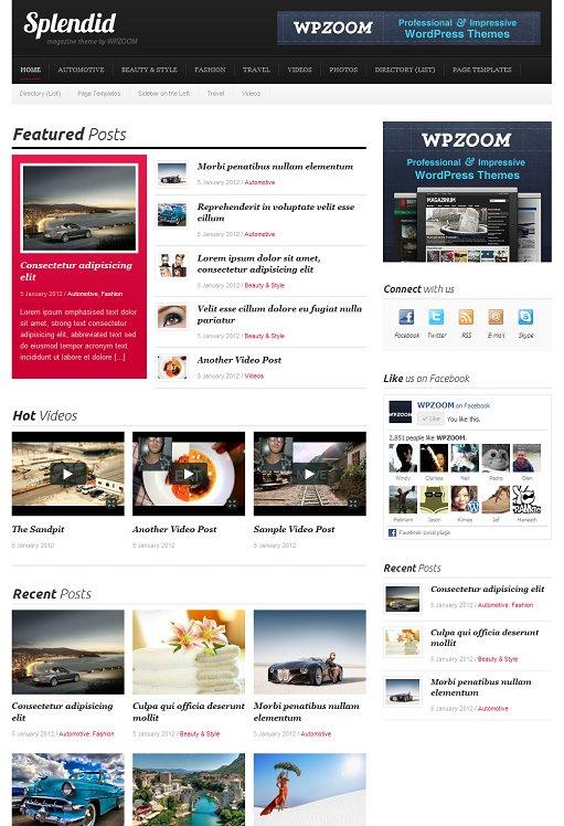 WPZOOM Splendid Fashion & Beauty Magazine WordPress Theme