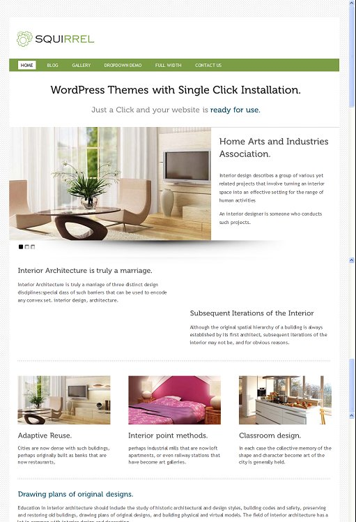 InkThemes Squirrel WordPress Multipurose Theme