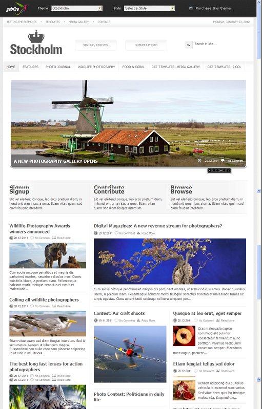Gabfire Stockholm WordPress Photo Magazine Theme